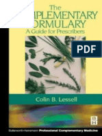 Colin Lessell MB  BS(Lond)  BDS(Lond)  MRCS(Eng)  LRCP(Lond)  FBHomDA  DDFHom  HonFHMA, Colin B. Lessell - The Complementary Formulary_ A Guide for Prescribers (2001)