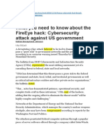 Cyber-attack against the US government USAToday