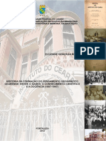 História da formação do pensamento geográfico cearense (2012)