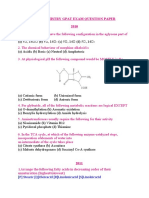 BIOCHEMISTRY GPAT EXAM QUESTION PAPER