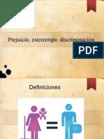 Prejuicios Estereotipos y Discriminacion