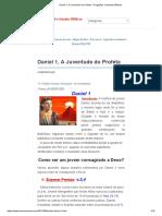 Daniel 1, A Juventude do Profeta - Pregações e Estudos Bíblicos