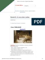 Daniel 6, A cova dos Leões - Pregações e Estudos Bíblicos