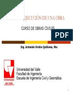 CLASE 1  ORGANIZACION DE OBRA