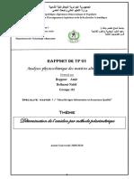 tp 1 détermination de l'amidon par méthode polarimétrique