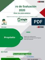 PPT Registro de Evaluación 2020 RVM 193-2020-MINEDU