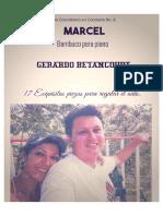MARCEL. Bambuco para piano. Gerardo Betancourt.