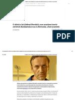 O aliată a lui Aleksei Navalnîi, care urmărea teoria otrăvirii disidentului rus cu Noviciok, a fost arestată