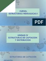 Unidad IV - Estructuras de captacion y distribucion