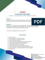 CURSO DE AUXULIAR CONTABLE online
