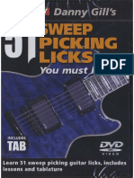 Danny Gill Lick Library - 51 Sweep Picking Licks You Must Learn!