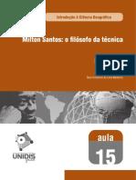 DANTAS; MEDEIROS. Milton Santos, o filósofo da técnica