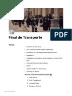Temas de materia Transporte Turístico