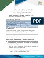 Guia de Actividades y Rúbrica de Evaluación - Unidad 1 - Fase 2 - Identificación de Operaciones Unitarias