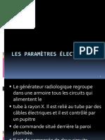 Les paramètres électriques