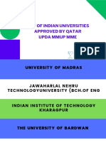 UPDAExamApprovedIndianUniversitiesQatarMMUPMME