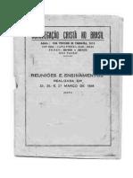 Congregação Cristã do Brasil Convenção Mar-1948