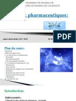 2- Eaux pharmaceutiques