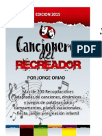 cancionero del recreador