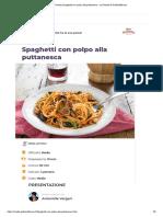 Ricetta Spaghetti con polpo alla puttanesca