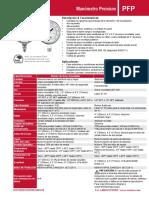 Ficha técnica Manómetro WINTERS 0-20000 PSI