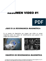 Resumen video resonancia magnetica