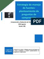 10B-100000N01I Planteamiento de preguntas de comprensión (diapositivas) 2019-agosto