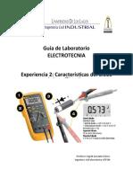 GuiaLaboratorio-Exp2-Caracteristicas del diodo 1sem2019