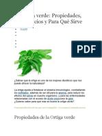 Ortiga verde - Benefficios_y_Propiedades