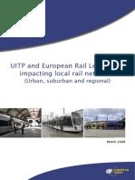 Rail legislation EN 2008