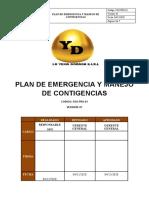 PLAN DE EMERGENCIA Y MANEJO DE CONTIGENCIAS final