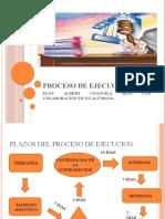 PROCESO DE EJECUCION  2020