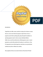 Paypal Verification New Method