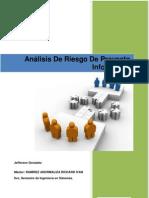 ANALISIS DE RIESGO DE PROYECTO INFORMATICO