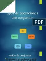 tipos de operaciones con conjuntos
