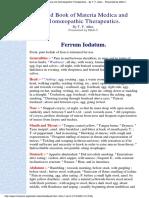 Ferrum iodatum - Allen Handbook