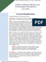 Ferrum phosphoricum - Allen Handbook