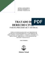 Alessandri, Somarriva y Vodanovic - TRATADO DE DERECHO CIVIL TOMO I - PARTES PRELIMINAR Y GENERAL