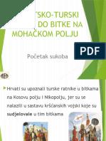 Hrvatsko-turski sukobi do bitke na Mohačkom polju