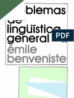 Benveniste, Problemas de linguistica general