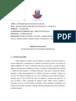 DIREITOS HUMANOS - TRABALHO ESCRAVO E TRÁFICO DE PESSOAS
