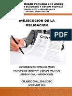 MONOGRAFIA INEJECUCION DE LAS OBLIGACIONES - ORLANDO