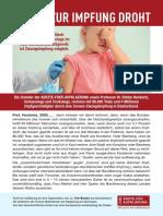 Flyer Zwang zur Impfung droht - Ärzte für Aufklärung