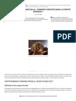 Crypto monnaie _ guide complet pour investir dans la monnaie virtuelle