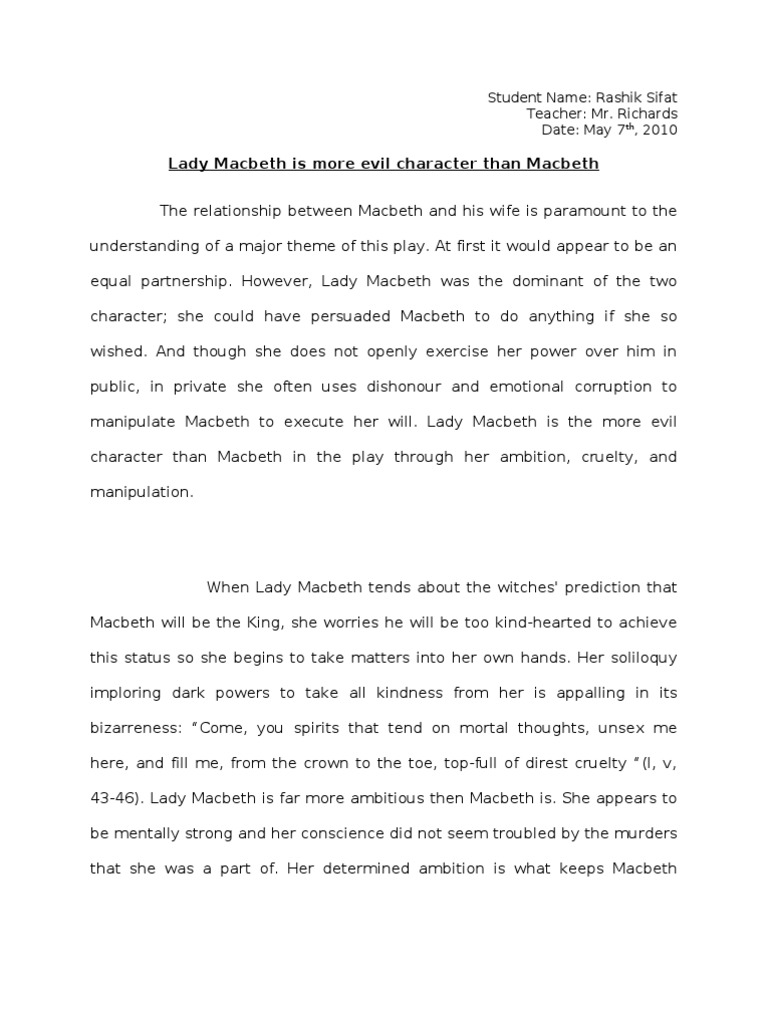 character of lady macbeth essay macbeth conclusion essay how to  relationship between macbeth and lady macbeth essay plan relationship between macbeth and lady macbeth essay plan