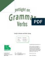 Spotlight Grammar Workbook verbs