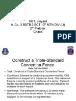 Triple-Standard Concertina Fence
