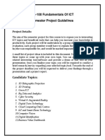 CS-100 ICT Semester Project Guidelines BSCS-10 C