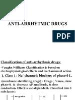 Types of  Anti-arrhythmic drugs