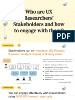 Enganging Stakeholders - UX Research